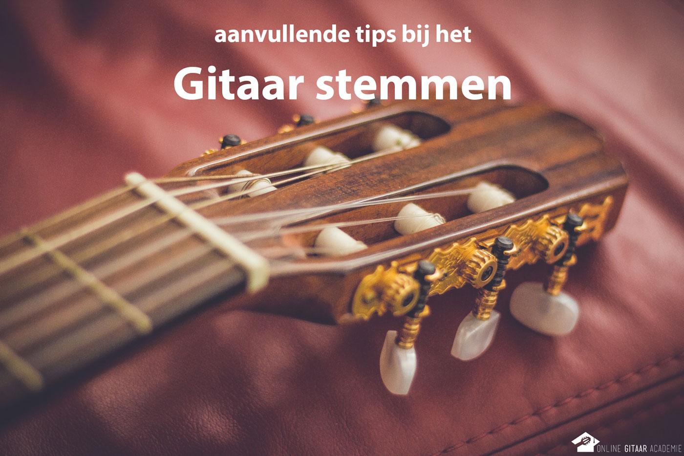 extra hulp en advies bij het gitaar stemmen krijg je met deze tips bij gitaar stemmen