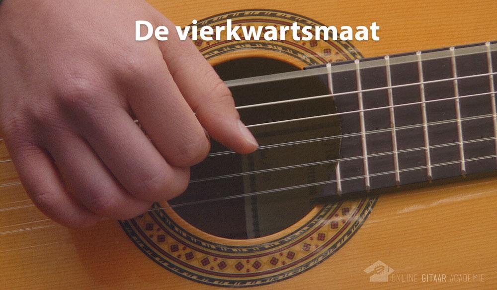 vierkwartsmaat leren spelen op gitaar popmuziek