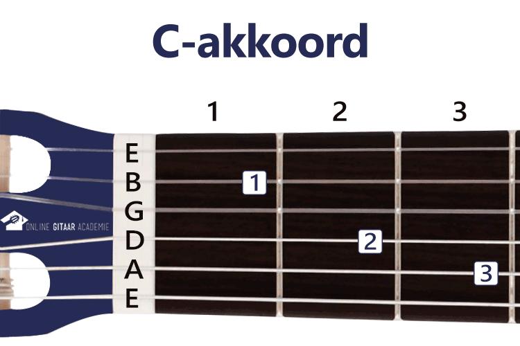 C-akkoord gitaar - gitaarakkoorden - rechtshandig - Online Gitaar Academie