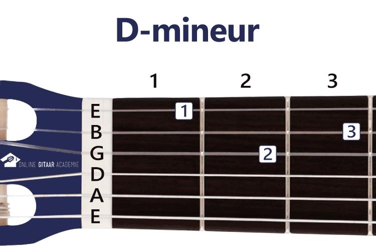 D-mineur akkoord gitaar - gitaarakkoorden - rechtshandig - Online Gitaar Academie