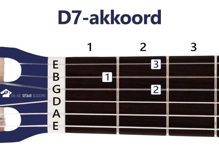 D7-akkoord gitaar - gitaarakkoorden - rechtshandig - Online Gitaar Academie