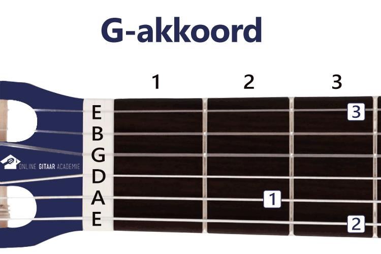 G-akkoord gitaar - gitaarakkoorden - rechtshandig - Online Gitaar Academie