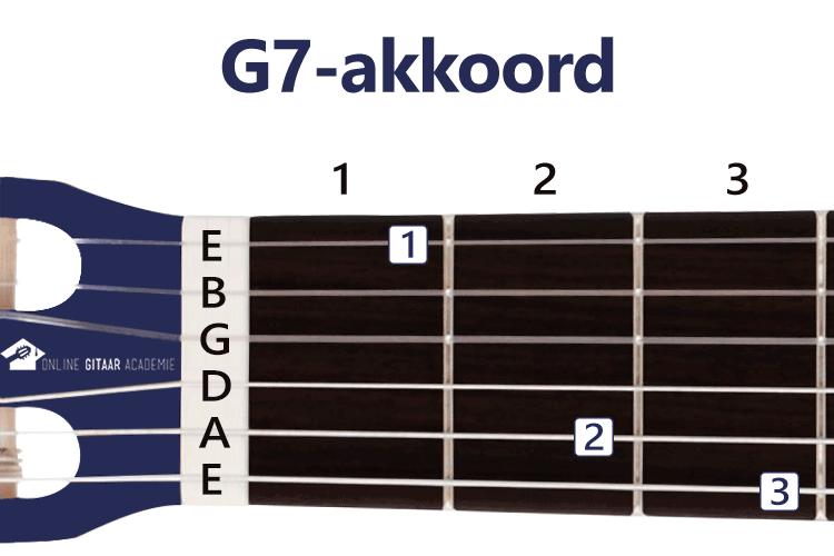 G7-akkoord gitaar - gitaarakkoorden - rechtshandig - Online Gitaar Academie